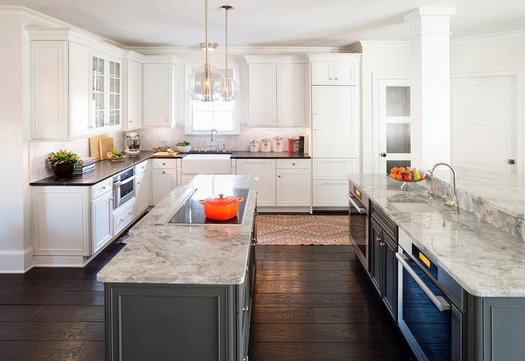 U Shaped Kitchen Design Island