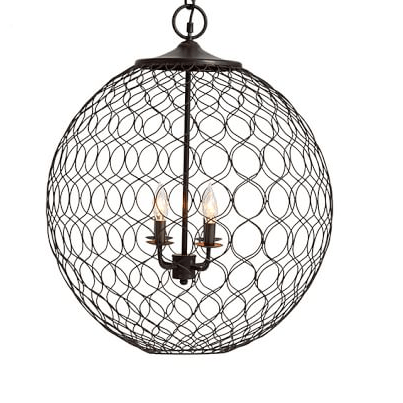Pottery Barn Indoor Outdoor Net Globe Pendant View Full Size