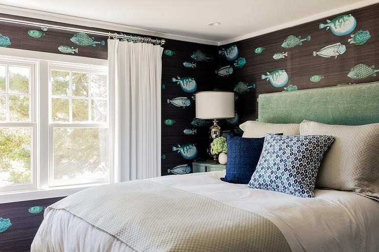 Fornasetti Acquario Deep Sea Blu Wallpaper Design Ideas