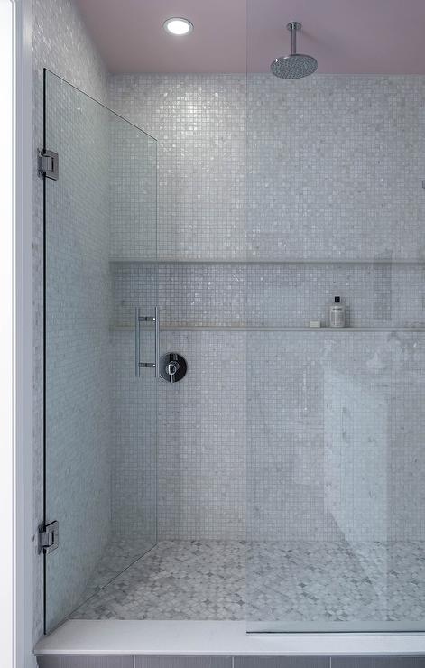 Horizontal Tiled Shower Niche Design Ideas