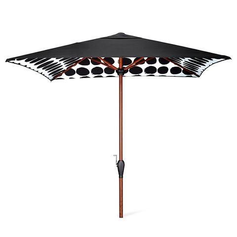 marimekko black white dots umbrella