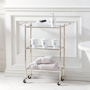 rolling bathroom cart - look 4 less and steals and deals.