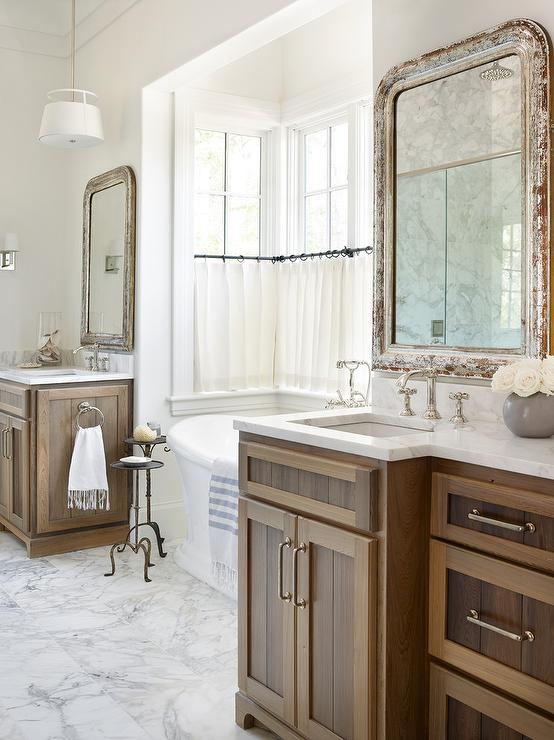 Distressed Cabinets Traditional Bathroom