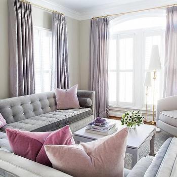 Long Purple Living Room Curtains Design Ideas Part 32