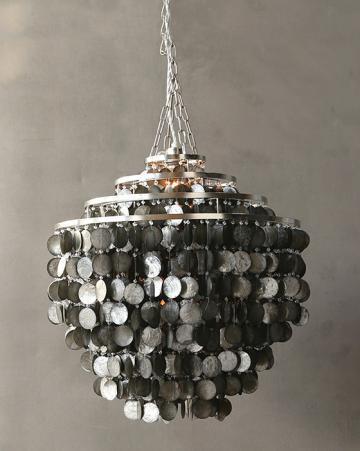 Silver Capiz Shell Chandelier