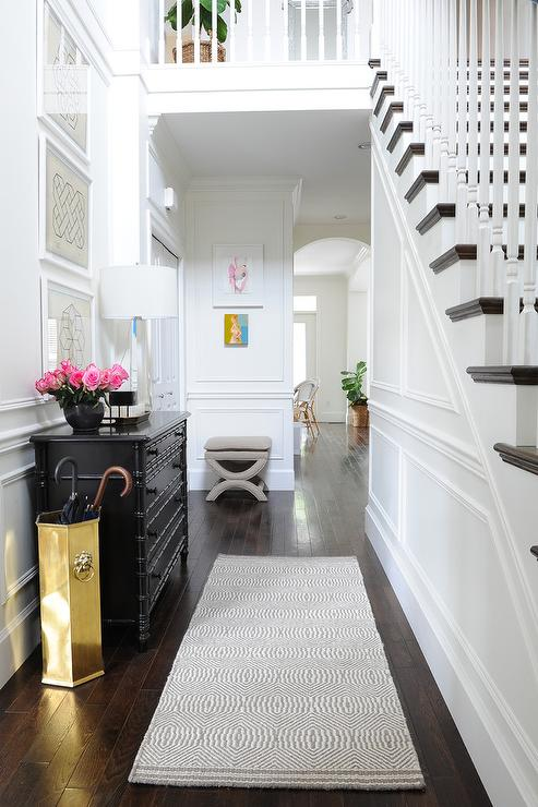 And White Decor Entry Black Door