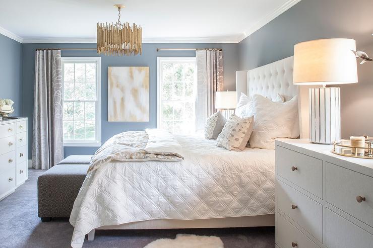 white tall dresser as nightstand