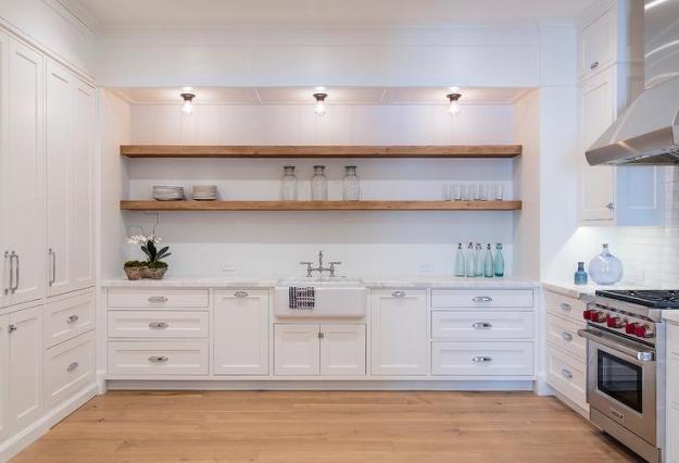 glass kitchen cabinet shelves design ideas