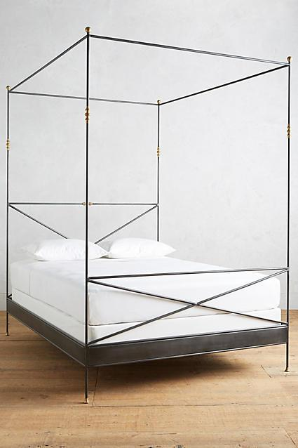 Four Poster Gold Bed Frame
