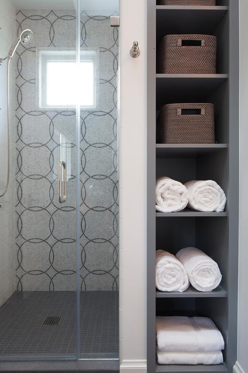 Shower Niche Glass Shelves Design Ideas