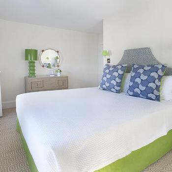 Blue On Bedroom With Nightstands Transitional