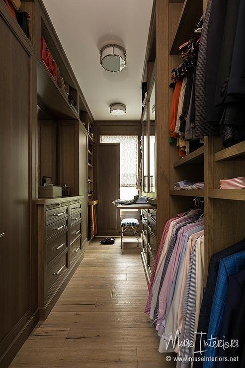 Mens Closet With Hat Shelf Transitional Closet