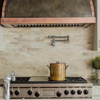 tan and orange backsplash tiles design