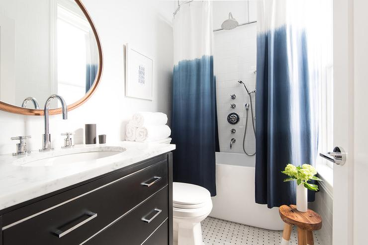 blue ombre shower curtain