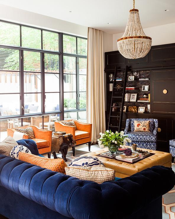 blue velvet chesterfield sofa with
