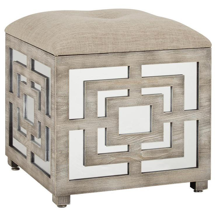 Table Tufted Coffee Ottoman Oval