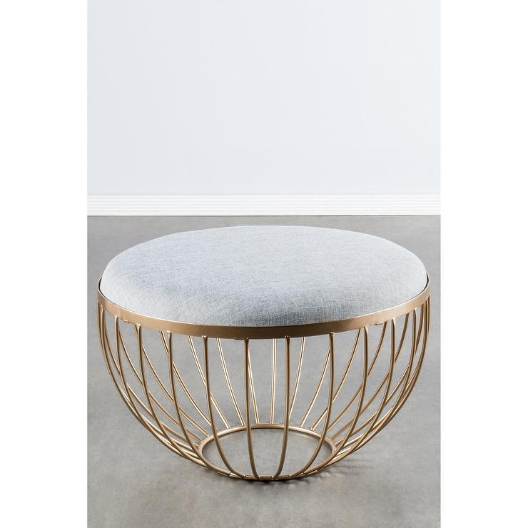 Round White Wood Coffee Table