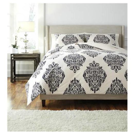 eggert black white baroque comforter set