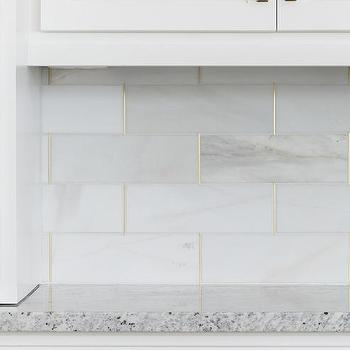 marble tile with gold trim design ideas