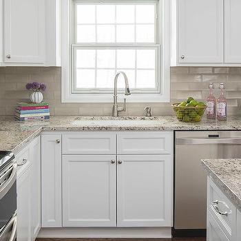 light brown ceramic kitchen backsplash