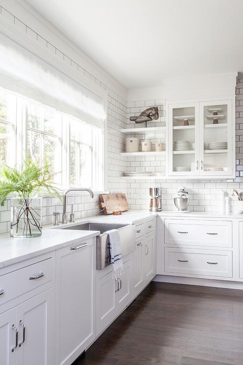 Stainless Steel Apron Sink With Modern Faucet