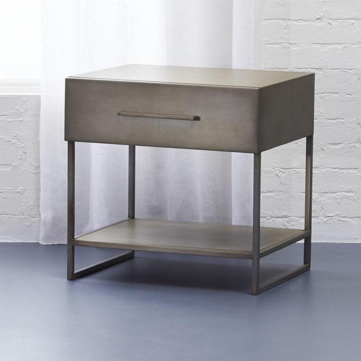 proof industrial metal nightstand