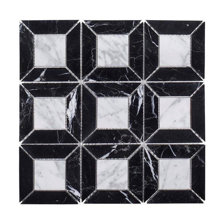 jeff lewis square black marble mosaic tile