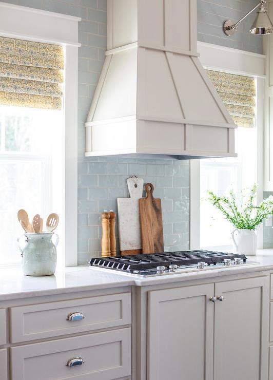 light blue subway tile kitchen