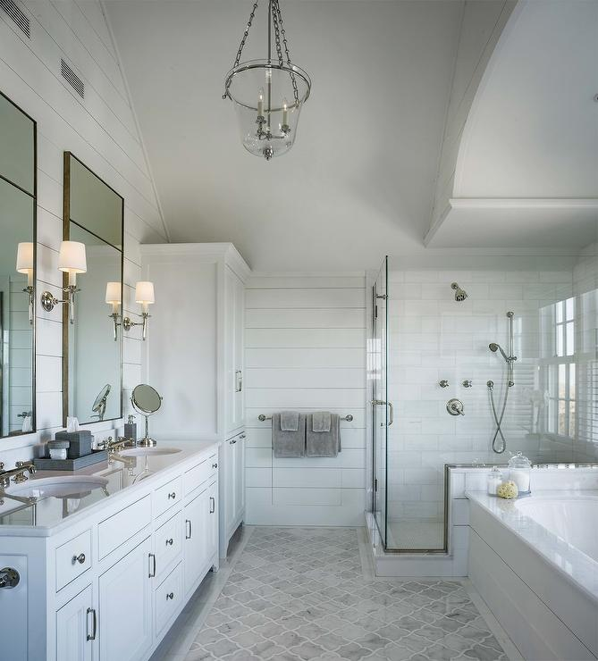 gray marble arabesque floor tiles with