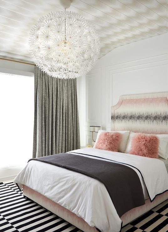 pink and black bedroom color scheme