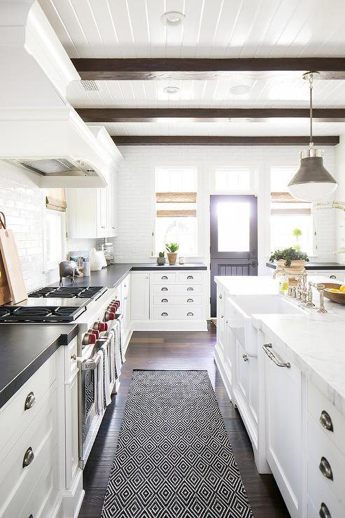 Mixed Kitchen Cabinet Hardware Transitional Kitchen