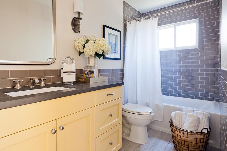 Yellow And Grey Bathroom Sets