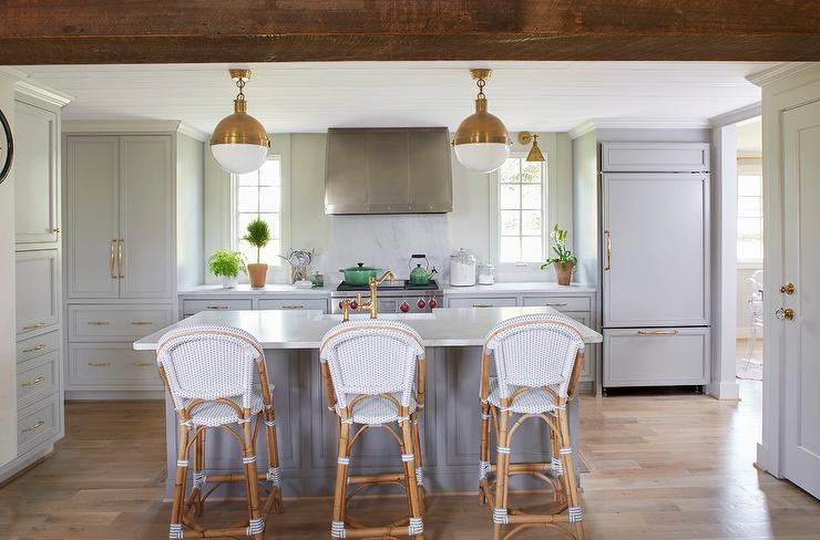 Light Gray Kitchen Cabinets With Gold Hardware Transitional Kitchen Sherwin Williams Gray