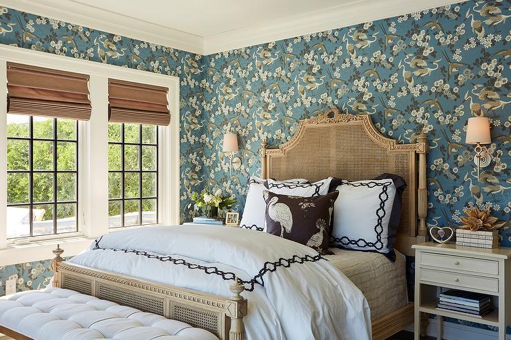 Cane Headboard French Bedroom Sherwin Williams Anew