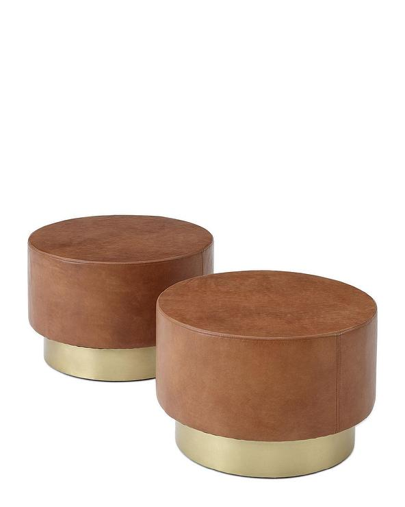 corwin bunching round brown leather