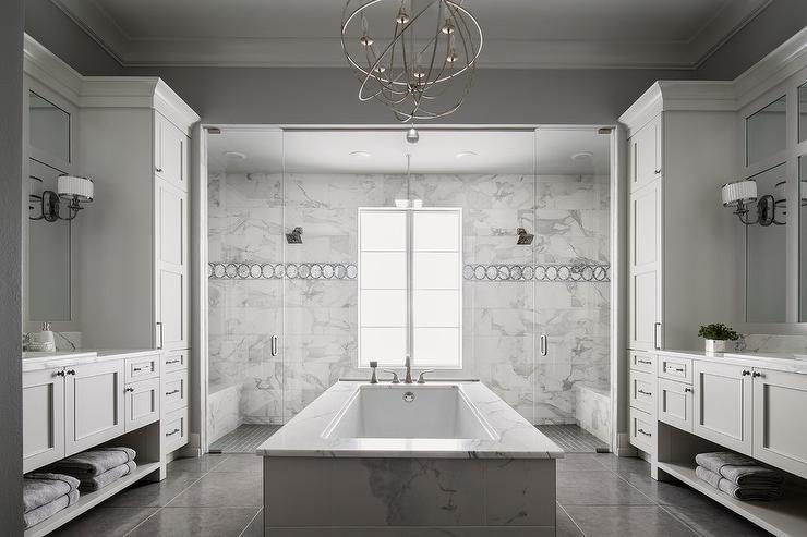 Middle Of The Room Bathtub Transitional Bathroom