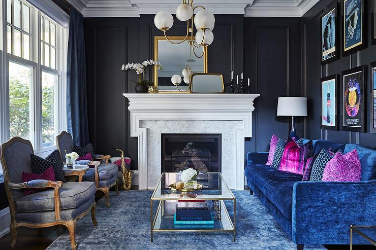 Blue Gray Accent Chairs