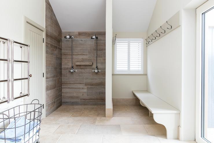 wood like shower wall tiles cottage