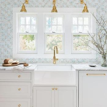 three windows over kitchen sink design