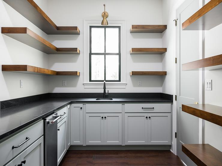 L Shaped Kitchen Pantry