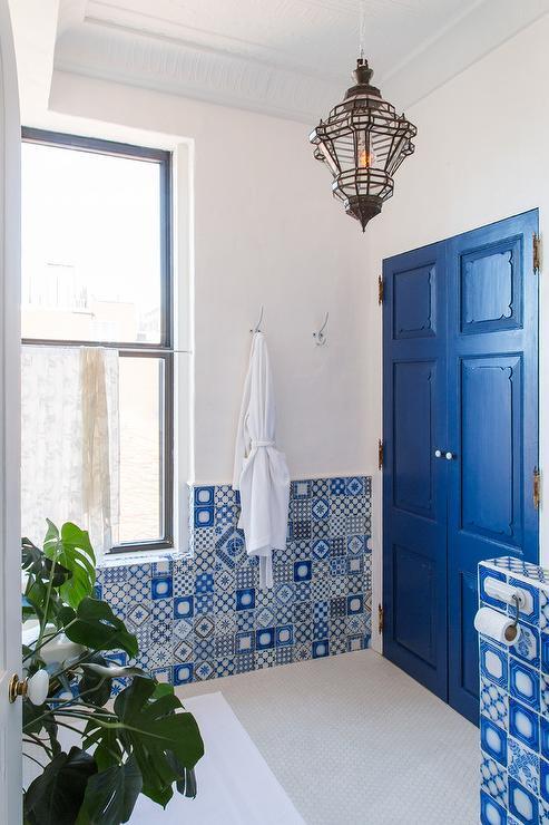 Moroccan Lantern Mediterranean Bathroom Sarah