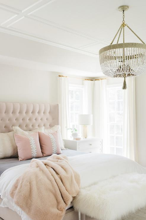 Blush Pink Pillows French Bedroom The Design Company