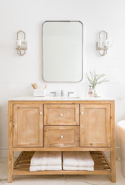 White Shiplap Cabinet Doors Design Ideas