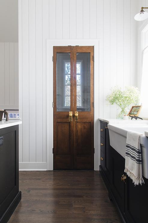 Pantry With Bi Fold Doors Country Kitchen Atlanta