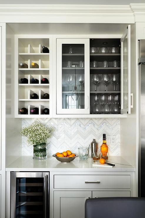 wine rack over fridge design ideas