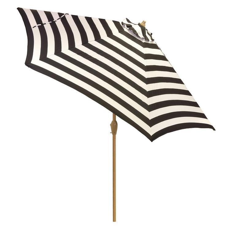 white mitre striped patio umbrella