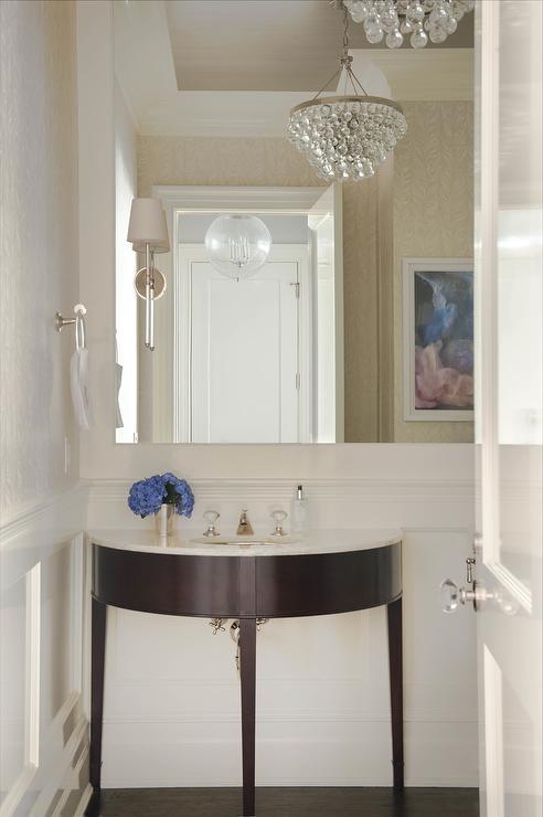 Ikat Wallpaper Contemporary Bathroom Artistic