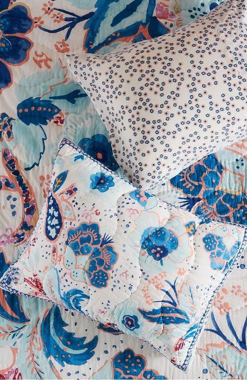 anthropologie santorini blue floral