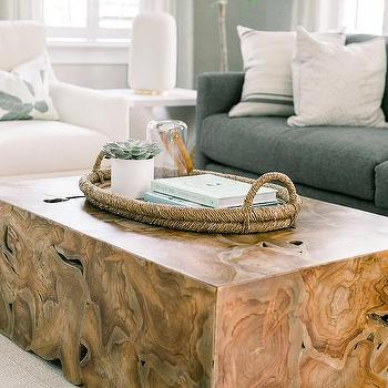 wood block coffee table design ideas