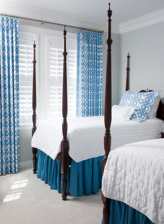 poster antique beds cottage bedroom